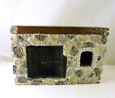 Dollhouse Miniature Walk-in Colonial Fieldstone Fireplace, YM0244ST