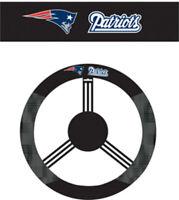 New England Patriots Steering Wheel Cover NFL Football Team Logo Poly Mesh