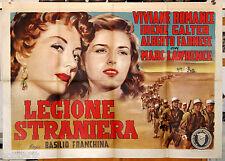 manifesto 2F originale LEGIONE STRANIERA Viviane Romance Irene Galter 1954