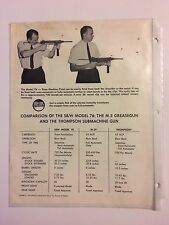 Comparison Pamphlet of S&W Model 76, M-3 Greasegun, & Thompson Submachine Gun