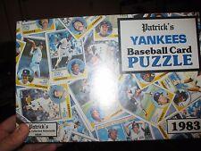 1983 Patrick's New York Yankees Baseball Card  Puzzle~In It's Original Plastic~