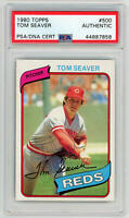 1980 Topps Tom Seaver Signed. #500 PSA