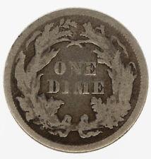 USA 1875 One Dime Coin VG - F