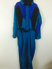 Mens THE NORTH FACE GORE-TEX VINTAGE Winter Ski Suit sz  M-L ~  BLACK AND BLUE