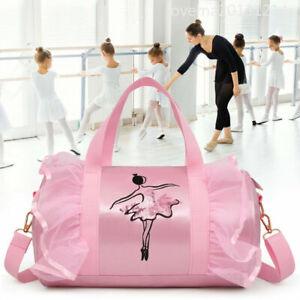 Girls Kids Shoulder bag Gymnastic Ballet Latin Handbag Tutu Dress Dance Bag MA