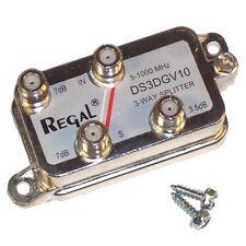 3-Way CABLE TV ANTENNA SIGNAL SPLITTER Regal DS3DGV10