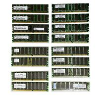 DDR 256MB (Lot of 16) RAM by Micron, Samsung, Infineon, Elixir, ProMOS, Mushkin