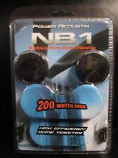 POWER ACOUSTIK NB1 NIOBIUM HIGH EFFICIENCY 200W MICRODOME TWEETER - NEW