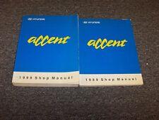 1999 Hyundai Accent Hatchback Shop Service Repair Manual Book Set L GL GS 1.5L