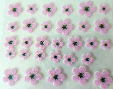 Nail art Stickers bijoux d'ongles : Fleurs marguerites - rose pailleté