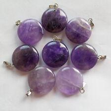 Beautiful Natural Amethyst pendant bead 8pcs DIY SM13-7