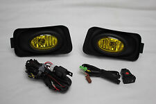 04-05 Acura TSX JDM Yellow Fog Light Kit + Harness + on/off Switch + Covers