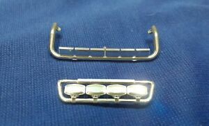 1:32 Scale Chrome 4 Lamp Rec Grille Bar & 6 Lamp Roof Bar, Code 3, Marge Models