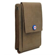Vintage Essentials RAF LEATHER WALLET / Phone Case - Military WW2 Mobile Pouch