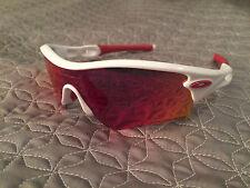 Oakley 09-721J 136 Men's Radar Path Golf Sunglasses Polished White/Red Iridium
