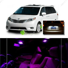 For Toyota Sienna 2011-16 Pink LED Interior Kit + Xenon White License Light LED