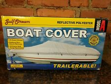 """Boxed 14' Model B 16' Beam Width to 90"""" New Gulf Stream Universal Boat Cover"""