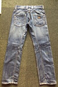 G-Star RAW Originals Army Elwood button fly blue jeans size 34 in EC, free post