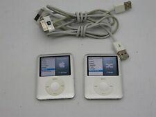 Lot of 2 Silver Apple iPod Nano Fat (3rd Gen) 4Gb 8Gb Mp3 Players A1236 Bundle