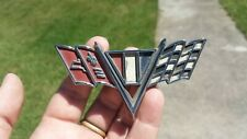 VTG Chevrolet Corvette Stingray Auto Badge Emblem Metal 1960s Part# 3840318