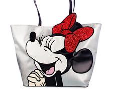 NEW! Disney Danielle Nicole Minnie Mouse Handbag Tote Bag Purse Sequin Bow