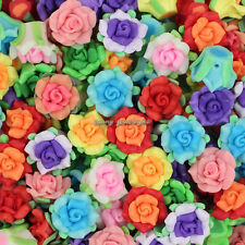 Wholesale 30pcs Mixed Polymer Fimo Clay Flower Loose Spacer beads 15mm SL99