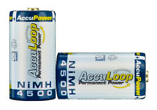 AccuPower NiMH C size AccuLoop AL4500-2 Rechargeable Batteries Precharged 2 pack