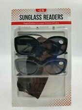 Women's Reading Sunglasses +2.75 Bifocals 2 Pack + Cases - New & Open Packing