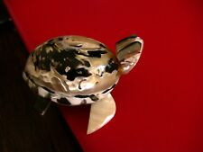 Turtle figurine, made out of beautiful magpie conch shell, tropical decor