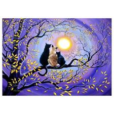 Colorful Cat 5D Full Round Diamond Painting Embroidery DIY Cross Stitch Decor