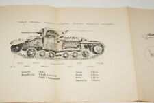 WWII WERMACHT UNITE ANTICHARS ALLEMAGNE CHAR ANGLAIS MARK III  PANZER 1943