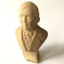 Vtg SCHUMANN Bust Marble Stone Carved Small Statue Composer As Is