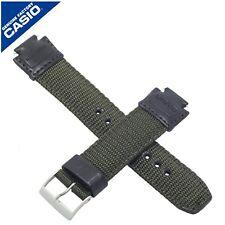Casio Véritable Casio Bracelet De Montre Bande Pour AQ-180WB-3AV AQ 180WB 180 Vert Textile