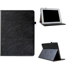 Leder Schutzhülle für Apple iPad 2/3/4 Tablet Tasche Cover Smart Case schwarz