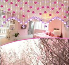 Crystal Glass Rose Bead Curtain Living Room Bedroom Window Door Wedding Decor