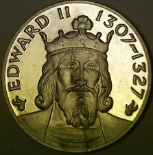 Edward II 1307-1327 England Sterling Silver Medal Approx. 1.2 ozt of .925 Fine