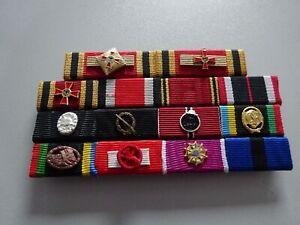 (A45-1) Bundeswehr Ordensspange mit 14 Orden: General WWII um 1970 BVK EK