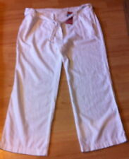 Marks and Spencer Linen White Trousers for Women