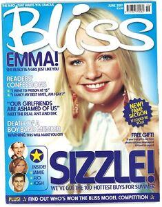 Bliss June 2001 Fashion & Beauty Magazine Emma Bunton Baby Spice cover