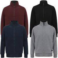 Dissident Men's Fleece Top Zip Up Funnel Neck Borg Lined Sweater Jacket Warm