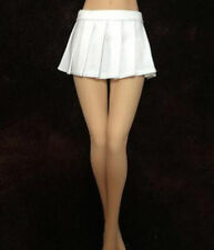 "1/6th Schoolgirl White Pleated Skirt High Waist Dress F 12"" Female Figure Model"