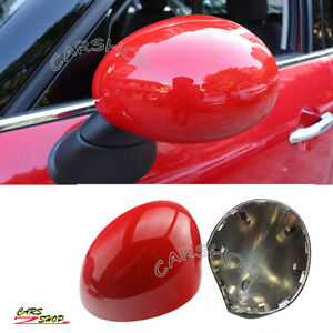 Red Side Mirror Cover Cap Replace For MINI Cooper S JCW One F54 F55 F56 F57 F60