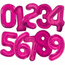 Globos de fiesta color principal rosa número