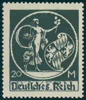 DR 1920, MiNr. 138 II, tadellos postfrisch, gepr. Weinbuch, Mi. 200,-