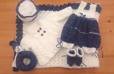 Mimsy*Newborn Baby Boy's Hand Knitted Outfit & Shawl*Reborn Dolls Clothes Set*