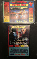 SEGA Super Play Trading Cards x 2 (1992) Panini