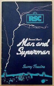 Man and Superman programme RSC Savoy Theatre Nov 1977 Beth Morris Nicky Henson