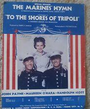 Marine's Hymn - To the Shores of Tripoli Maureen O'Hara - Sheet Music