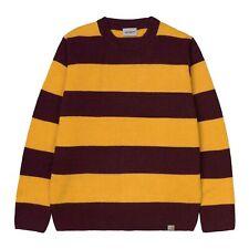 CARHARTT ALVIN SWEATER I026966 ALVIN STRIPE MERLOT maglione uomo fasce giallo