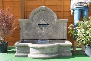 LARGE TAPAS WALL FOUNTAIN STONE WATER FEATURE GARDEN ORNAMENT